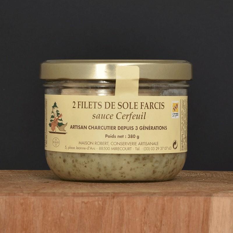 2 Filets de sole farcis sauce Cerfeuil - 380g