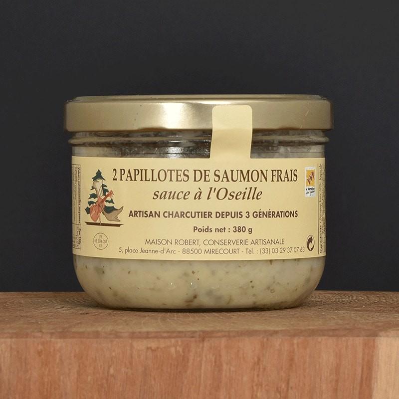 2 Papillotes de saumon frais sauce à l'Oseille - 380g