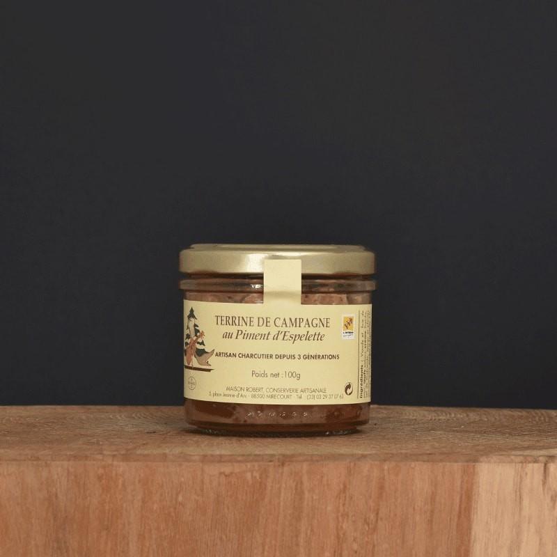 Terrine de campagne au Piment d'Espelette - 100g