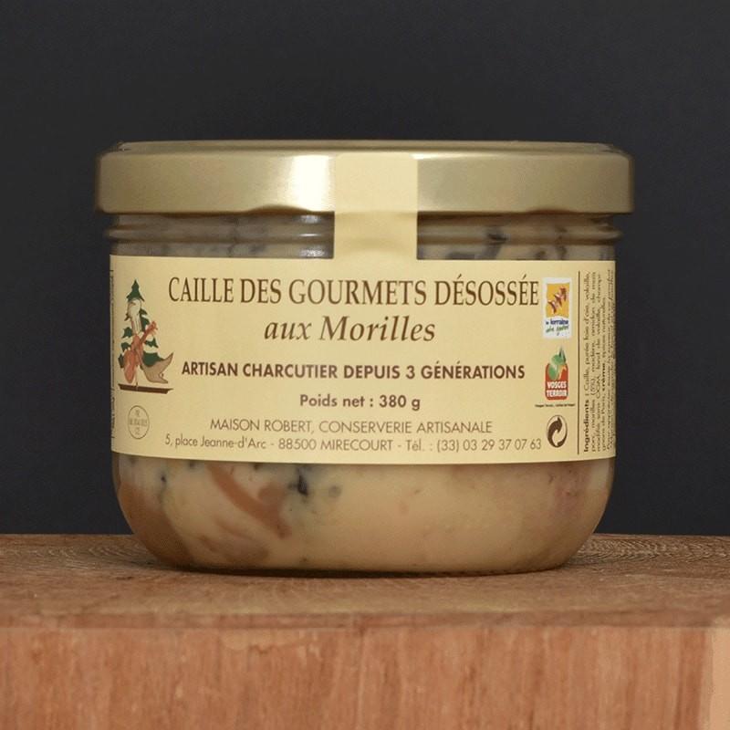 Caille des gourmets désossée aux Morilles - 380g
