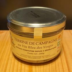 Terrine de campagne au Vin Bleu des Vosges - 200g