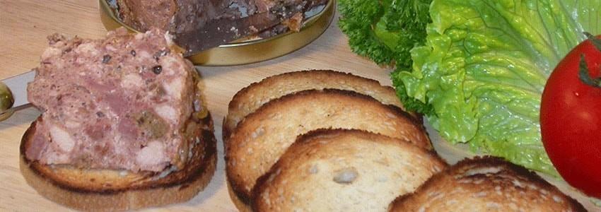 Catégorie Terrines - MAISON ROBERT : Rillette pur porc à l'ancienne - 200g , Terrine forestière - 200g , Bœuf en gelée à l'...