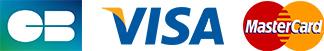 Paiement par Carte Bleue, Visa, Mastercard